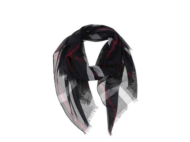 Černý károvaný šátek Haily´s Tuch Karo