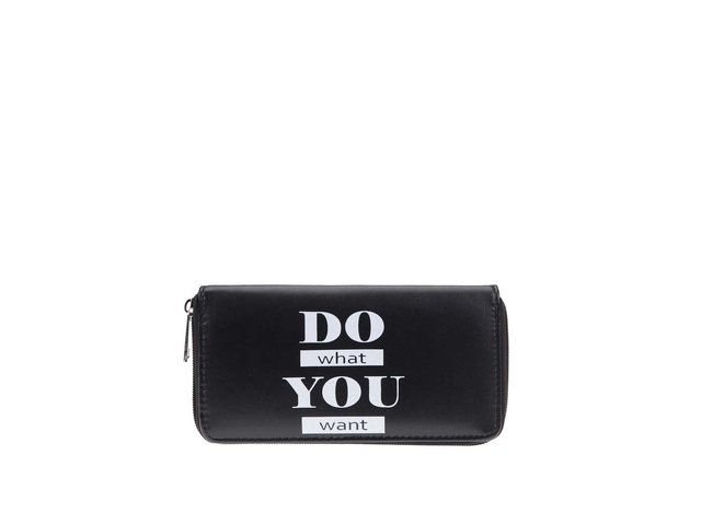 Černá peněženka s nápisem Haily´s
