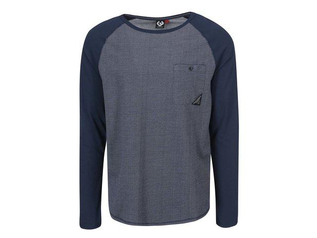 Bílo-modré pánské triko s kapsou Ragwear Noah