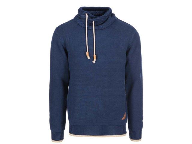 Tmavě modrý pánský svetr s límcem Ragwear Moose