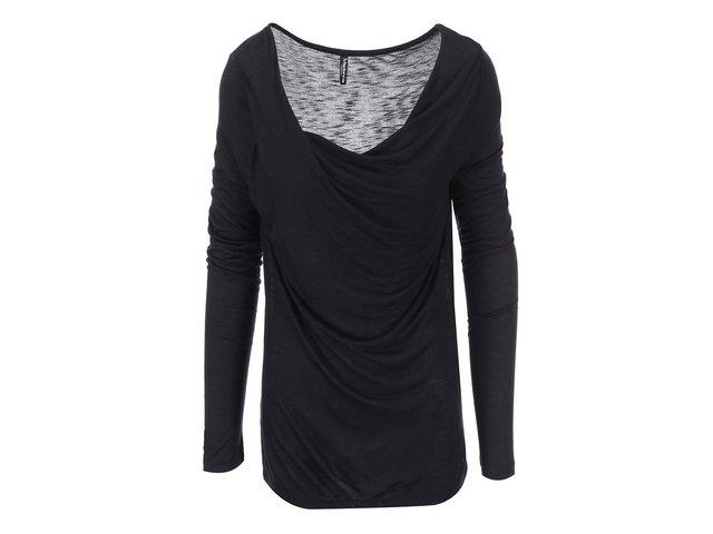 Černé tričko s dlouhým rukávem Madonna Havalti