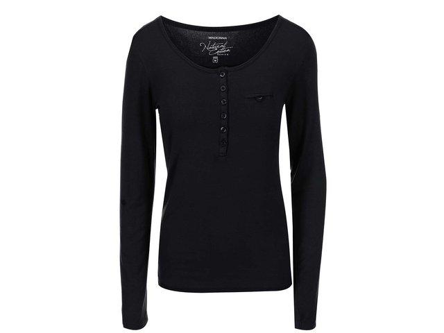 Černé tričko Madonna Leyla Buttons