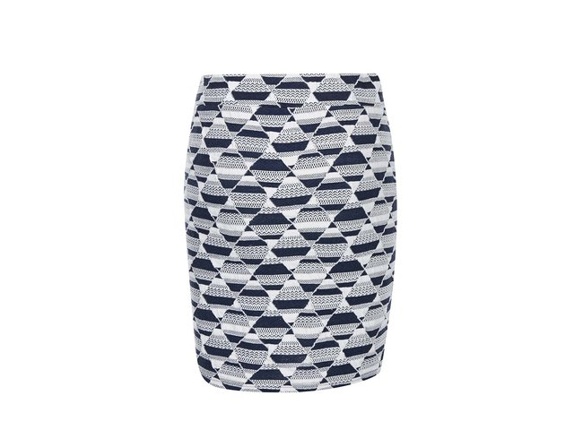 Modro-bílá vzorovaná sukně ICHI Palis