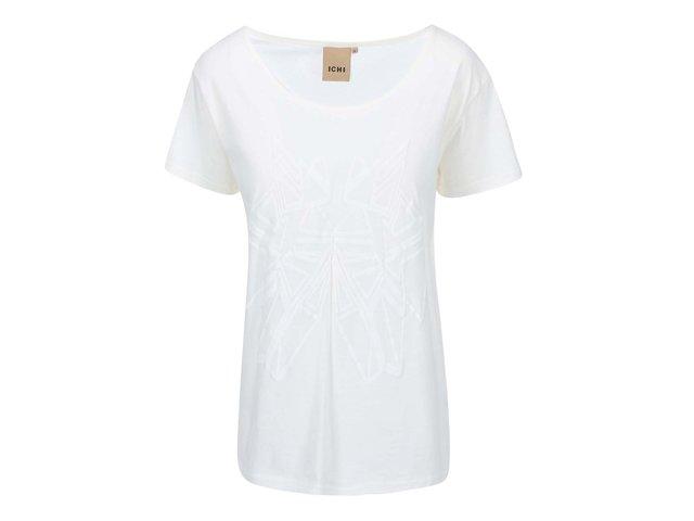 Bílé tričko s potiskem  ICHI Jasmin