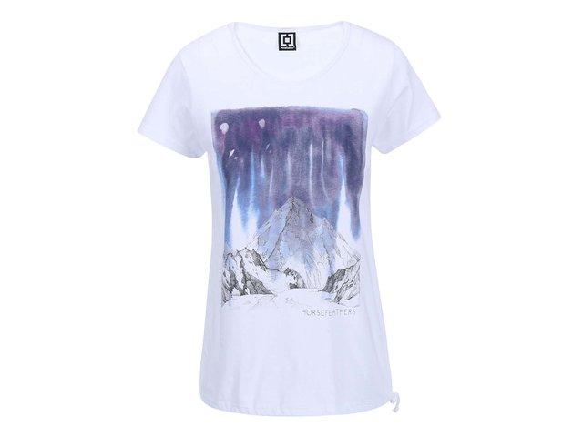 Bílé dámské triko s vázáním na straně Horsefeathers Peak
