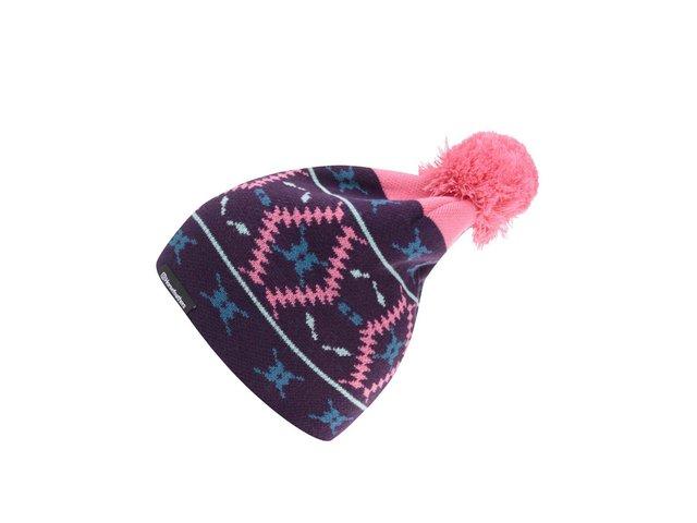 Fialová dámská čepice se vzorem Horsefeathers Marge