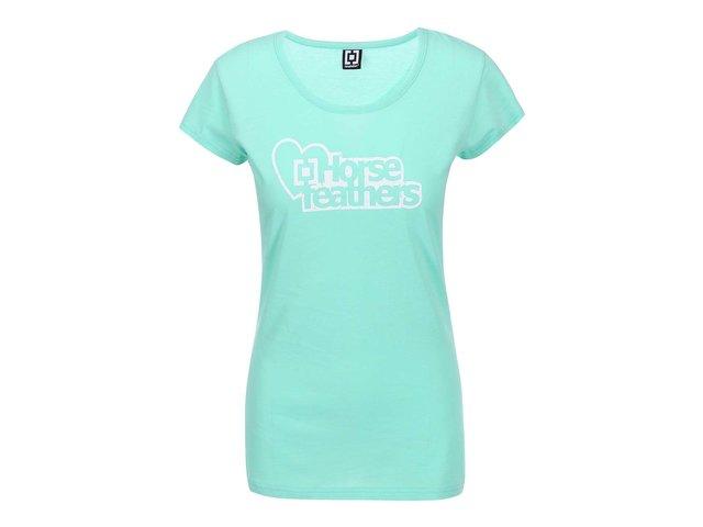 Mentolové dámské triko s logem Horsefeathers Jewel
