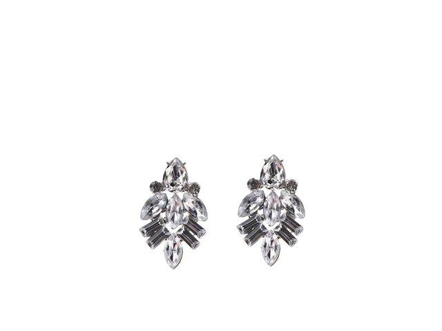 Sklíčkové náušnice ve stříbrné barvě Pieces Rhima