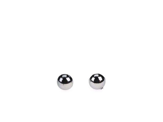Perlové náušnice v stříbrné barvě Pieces Rica
