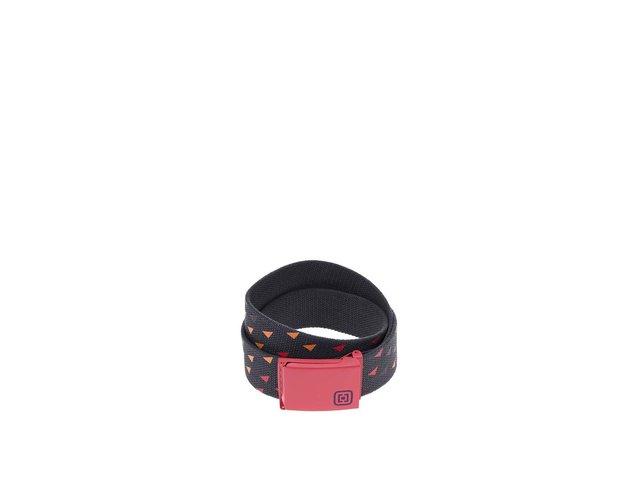 Tmavě šedý dámský pásek s růžovou sponou Horsefeathers Carmen