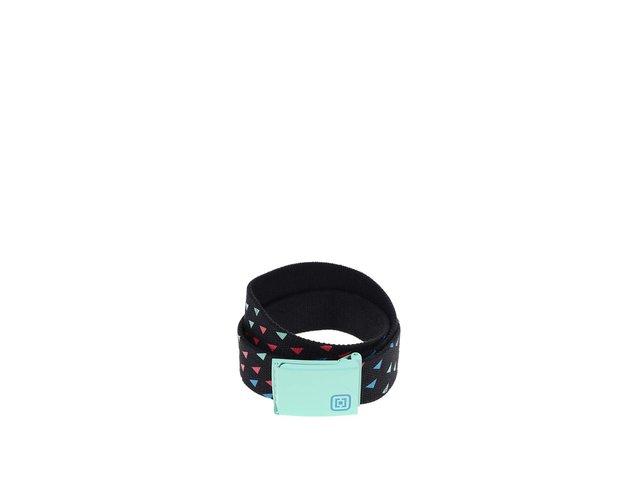 Černý dámský pásek se zelenou sponou Horsefeathers Carmen