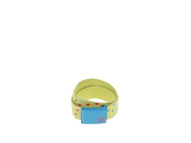 Žlutý dámský pásek s modrou sponou Horsefeathers Carmen