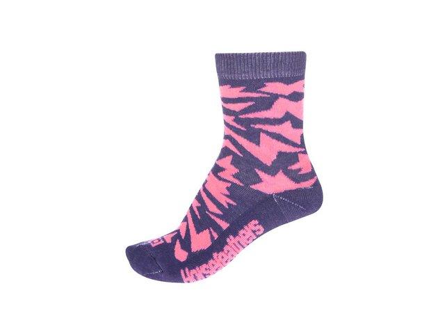 Růžovo-fialové dámské ponožky Horsefeathers Versus