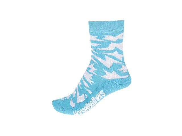 Bílo-modré dámské ponožky Horsefeathers Versus