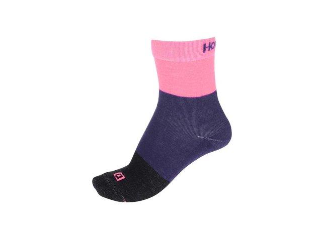 Černo-fialovo-růžové dámské ponožky Horsefeathers Split