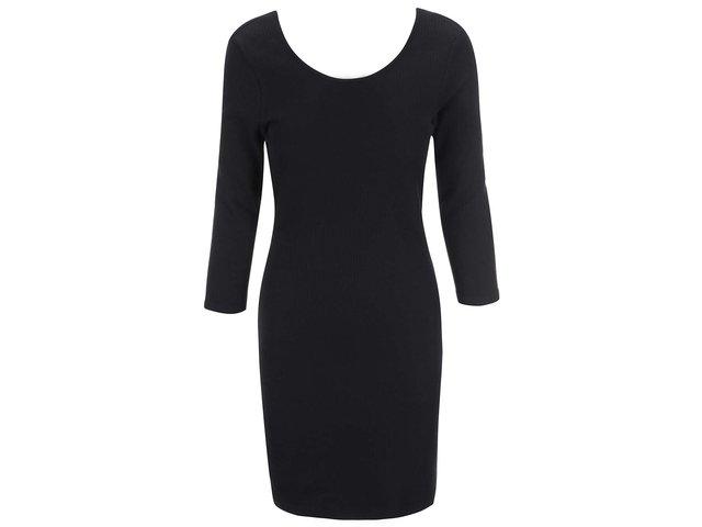 Černé šaty s 3/4 rukávem Vero Moda Alma