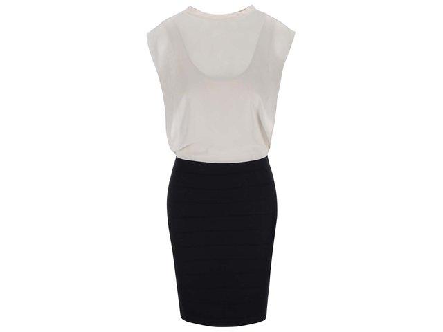 Černo-krémové šaty Vero Moda Mixi
