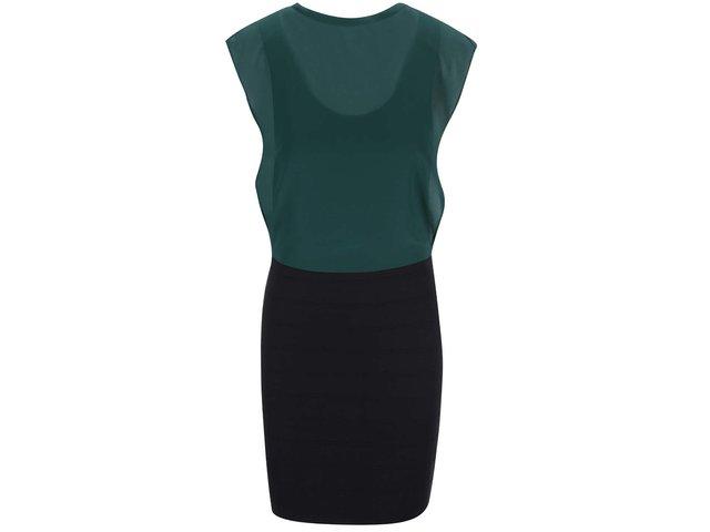 Černo-zelené šaty Vero Moda Mixi