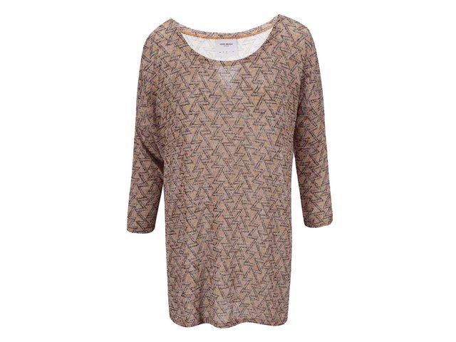 Hnědý svetrový top se vzorem Vero Moda Jennie