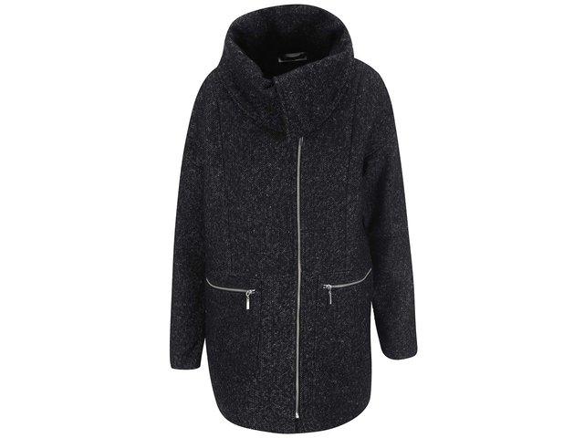 Tmavě šedý kabát Noisy May Round