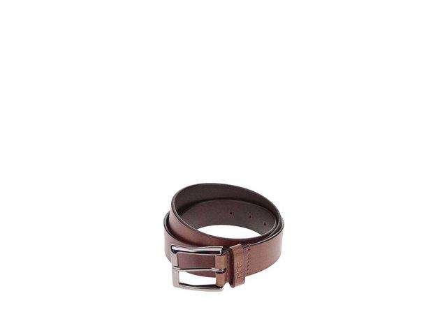 Hnědý kožený pásek Dice Westside