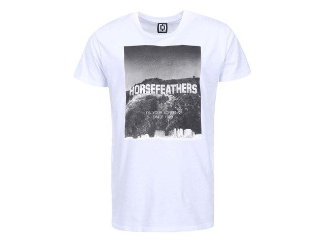 Bílé pánské triko s potiskem Horsefeathers Fame