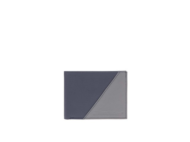 Šedo-modrá pánská kožená peněženka Horsefeathers Jeff
