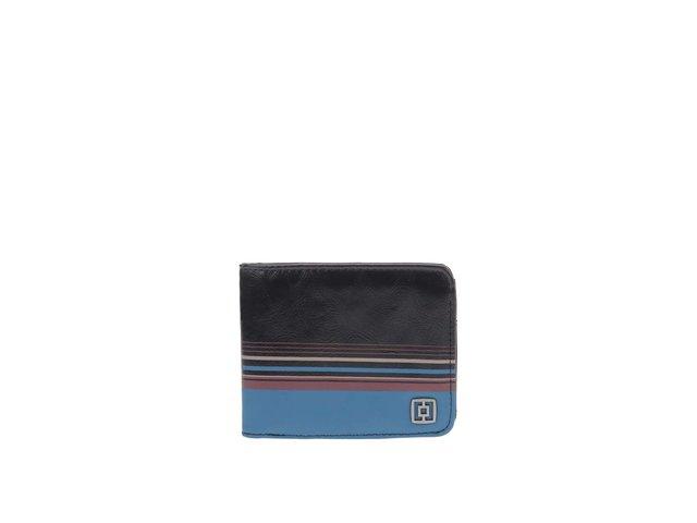 Modro-černá pánská kožená peněženka Horsefeathers Arthee