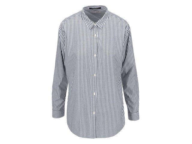 Bílo-šedá pruhovaná košile Maison Scotch