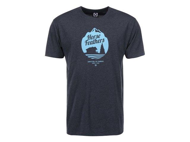 Tmavě šedé pánské triko s potiskem Horsefeathers Cabin