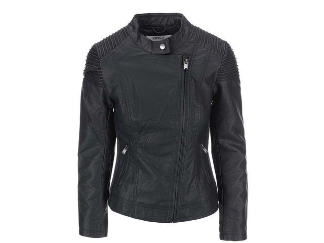Černá koženková bunda ONLY Sharlene