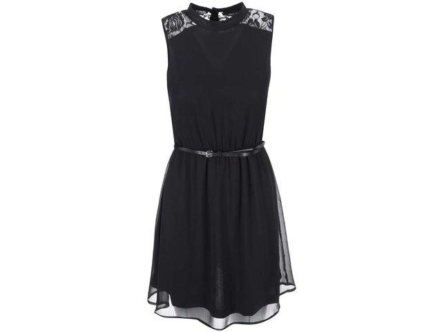 Černé šaty s krajkou ONLY Balio