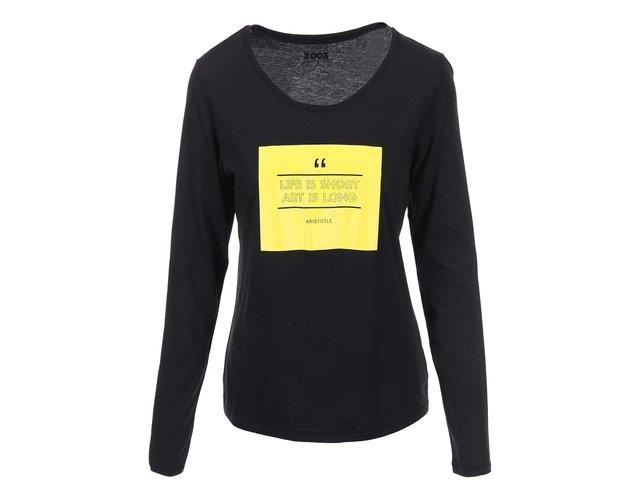 Černé dámské tričko s dlouhým rukávem ZOOT Originál Art Is Long