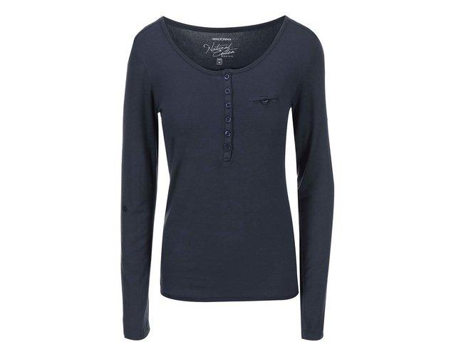 Tmavě šedé tričko Madonna Leyla Buttons