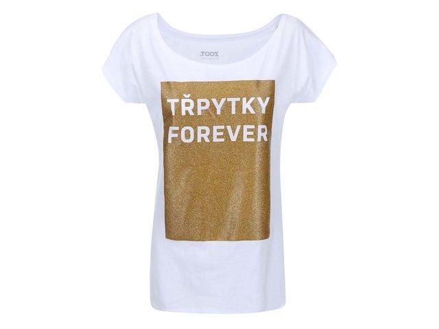 Bílé dámské tričko ZOOT Originál Třpytky Forever