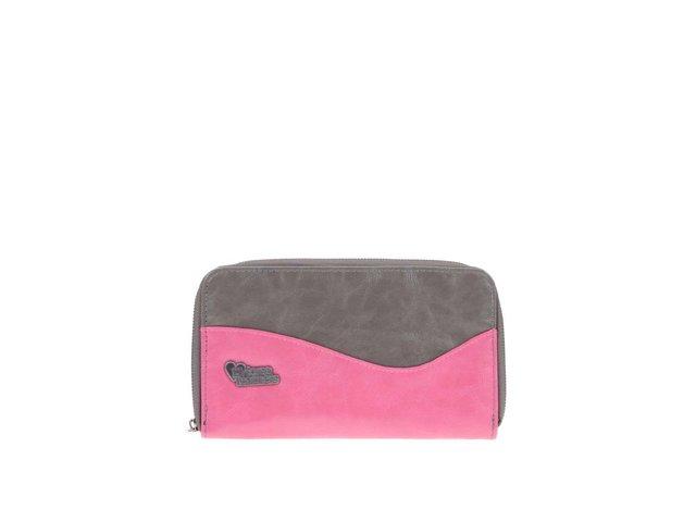 Šedo-růžová peněženka Horsefeathers Gwyn