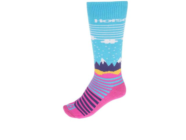 Růžovo-modré dámské ponožky Horsefeathers Epic