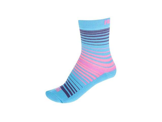 Modré dámské pruhované ponožky Horsefeathers Contour