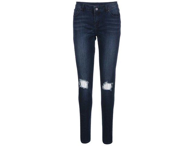 Tmavě modré džíny s potrhaným efektem VILA Crush