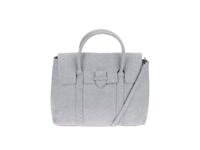 Světle šedá kabelka Pieces Velvet