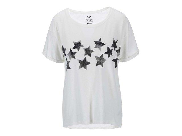 Krémové tričko s hvězdami Roxy Stars