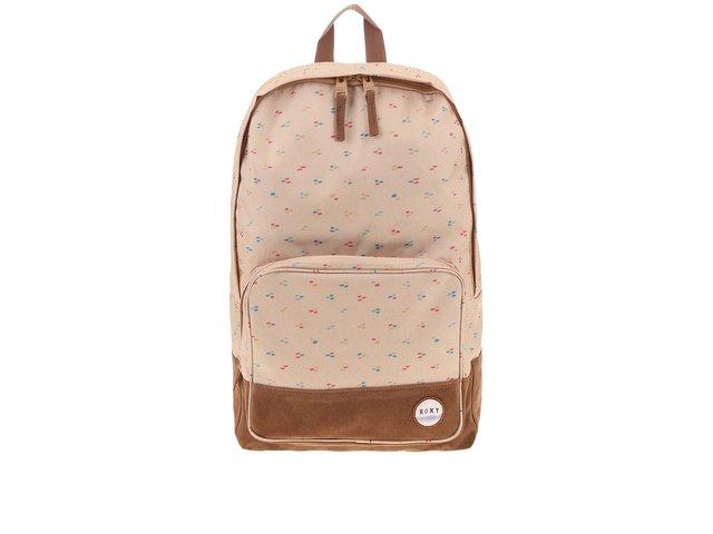 Béžový batoh s barevnými detaily Roxy Pinksky