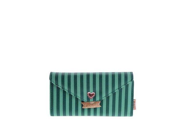 Zelená peněženka s červenou mašlí Pompom Tutti