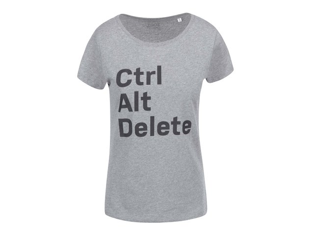 Šedé dámské tričko ZOOT Originál Ctrlaltdelete
