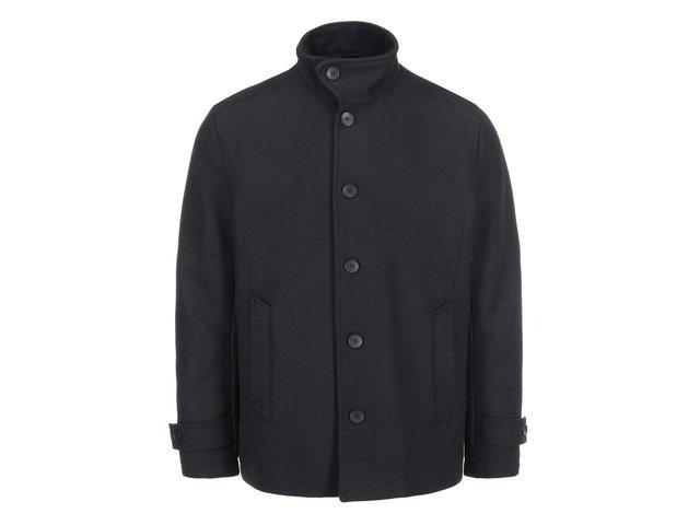 Černý vlněný  kabát Jack & Jones Memento
