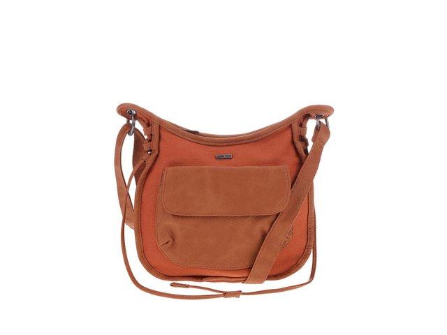 Cihlovo-hnědá menší kabelka přes rameno Roxy Explorer