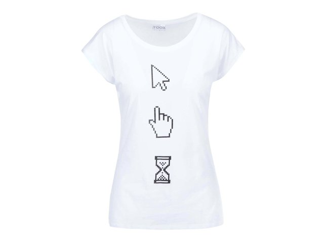 Bílé dámské tričko ZOOT Originál Kurzory
