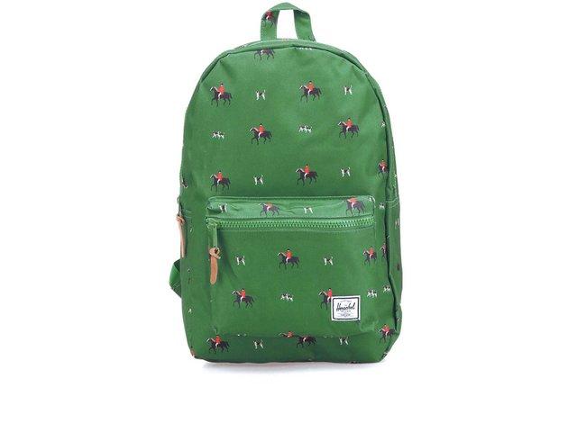 Zelený batoh s jezdeckým potiskem Herschel Settlement