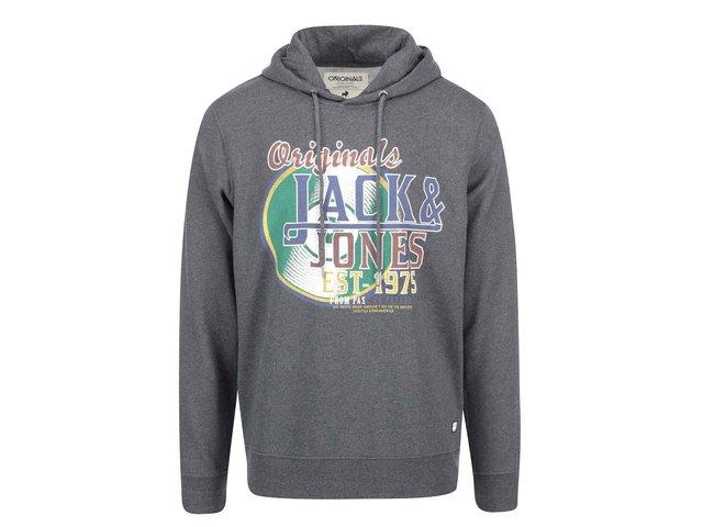 Tmavě šedá mikina s kapucí Jack & Jones Net