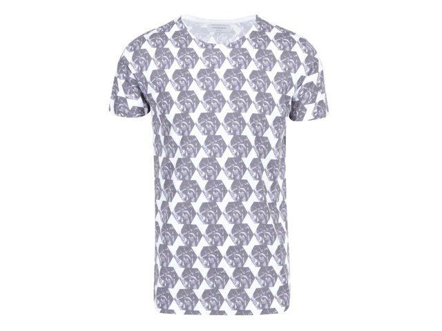 Bílo-šedé vzorované triko Lindbergh